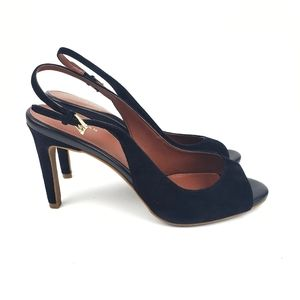 Cole Haan Grand.OS Black Suede Heels size 9 B
